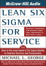 Cover of: Lean Six Sigma for Service | Michael L. George