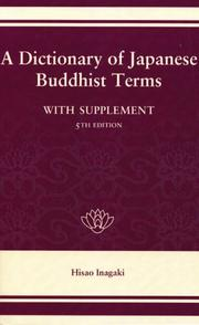 Cover of: A dictionary of Japanese Buddhist terms