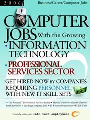 Cover of: Computer Jobs with the Growing Information Technology Professional Services Sector