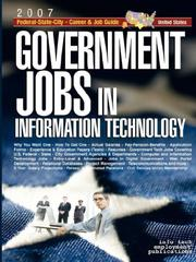 Cover of: Government Jobs in Information Technology [2007]