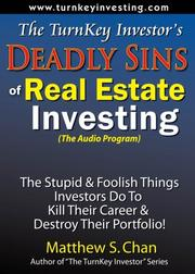 Cover of: The TurnKey Investor's Deadly Sins of Real Estate Investing (The Audio Program)