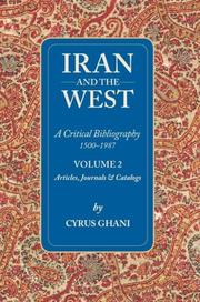 Cover of: Iran and the West (Volume 2)