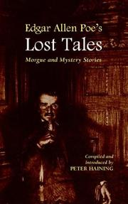 Cover of: Edgar Allen Poe's Lost Tales