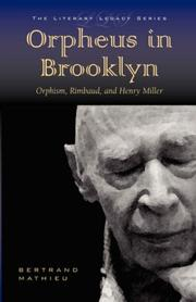Cover of: Orpheus in Brooklyn | Bertrand, Mathieu