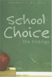 Cover of: School Choice: The Findings