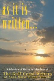 Cover of: As It Is Written | Gulf Coast Writers Group