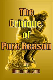Cover of: The Critique of Pure Reason