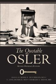 Cover of: The Quotable Osler |
