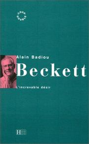 Cover of: Beckett: l'increvable désir
