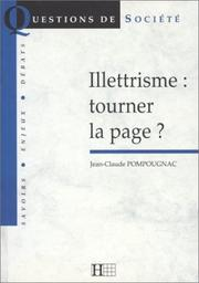 Cover of: Illettrisme, tourner la page?