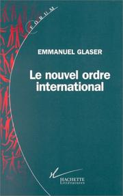 Cover of: Le nouvel ordre international