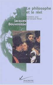 Cover of: Le philosophe et le réel