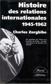 Cover of: Histoire des relations internationales, tome 3