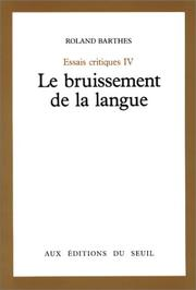 Cover of: Le bruissement de la langue