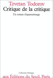 Cover of: Critique de la critique