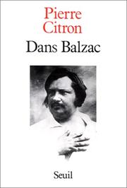 Cover of: Dans Balzac