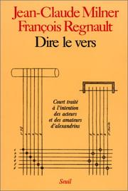 Cover of: Dire le vers