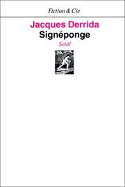 Cover of: Signéponge =