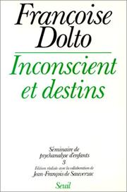 Cover of: Inconscient et destins