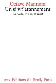 Cover of: Un si vif étonnement