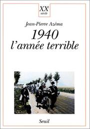 Cover of: 1940, l'année terrible