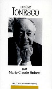 Cover of: Eugène Ionesco