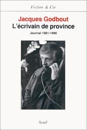 Cover of: L' écrivain de province
