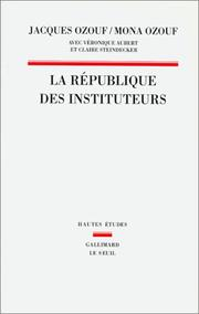 Cover of: La république des instituteurs
