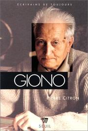 Cover of: Giono