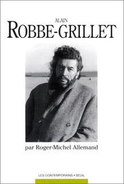 Cover of: Alain Robbe-Grillet