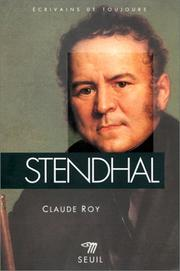 Cover of: Stendhal