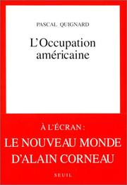 Cover of: L'occupation américaine
