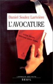 Cover of: L' avocature