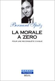 Cover of: La morale à zéro