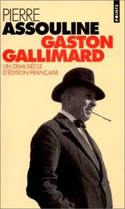 Cover of: Gaston Gallimard