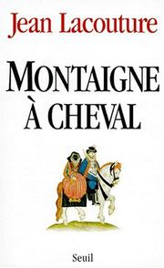 Cover of: Montaigne à cheval