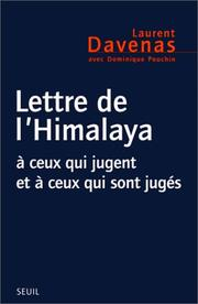 Cover of: Lettre de l'Himalaya