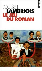 Cover of: Le jeu du roman