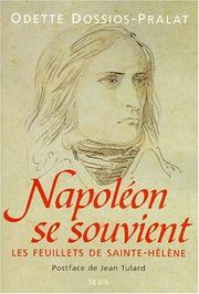 Cover of: Napoléon se souvient