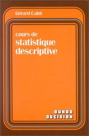 Cover of: Cours de statistique descriptive by Gérard Calot