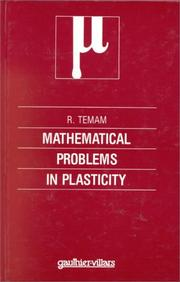 Cover of: Mathematical problems in plasticity