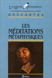Cover of: Meditations Metaphysiques