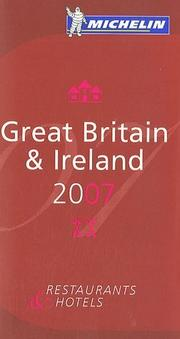 Michelin Red Guide 2007 Great Britain & Ireland (Michelin Red Guides)