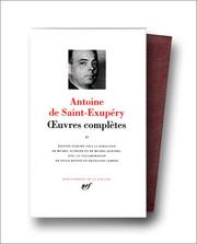 Cover of: Saint-Exupéry: Oeuvres complètes, tome 2