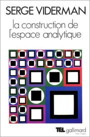 Cover of: La construction de l'espace analytique