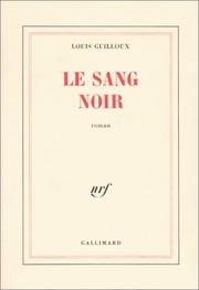 Cover of: Le sang noir