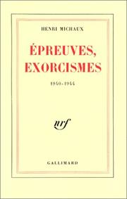 Cover of: Epreuves, exorcismes 1940-1944