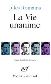 Cover of: La vie unanime