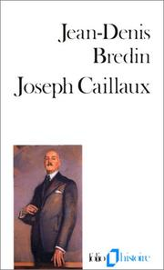 Cover of: Joseph Caillaux