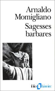 Cover of: Sagesses barbares